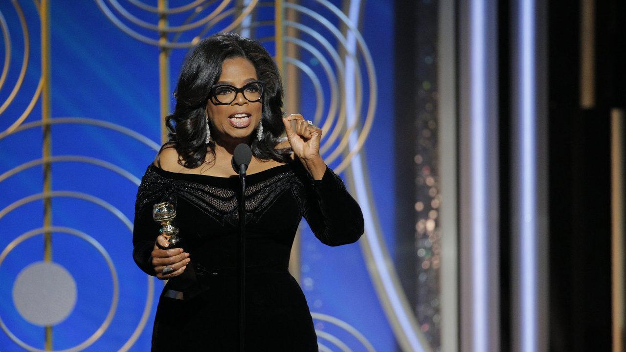 Oprah Winfrey získala na Zlatých glóbech cenu za celoživotní přínos, v projevu se vyjádřila k tématu sexuálního násilí.