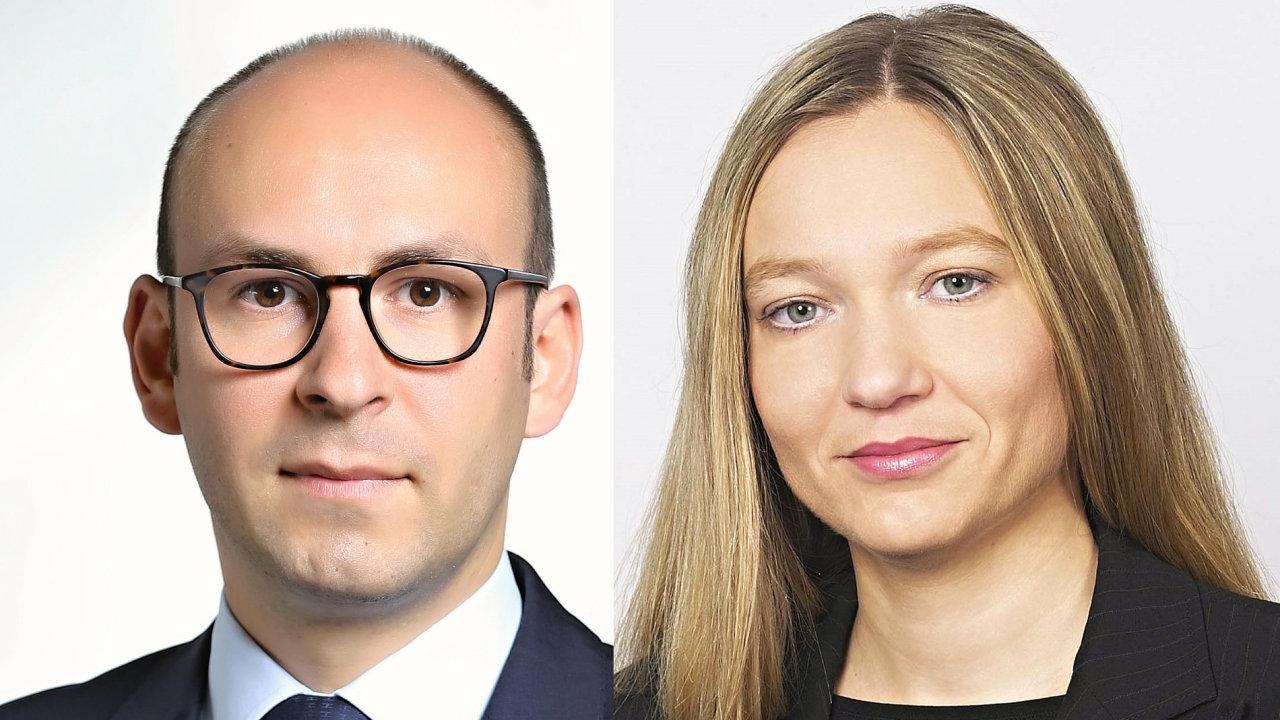 Tony du Prez a Vendulka Klučková, management investiční společnosti Amundi Czech Republic