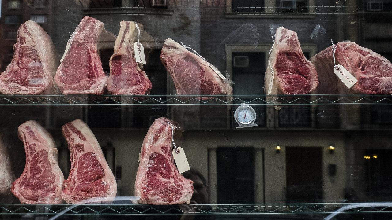maso, výloha, obchod, masna