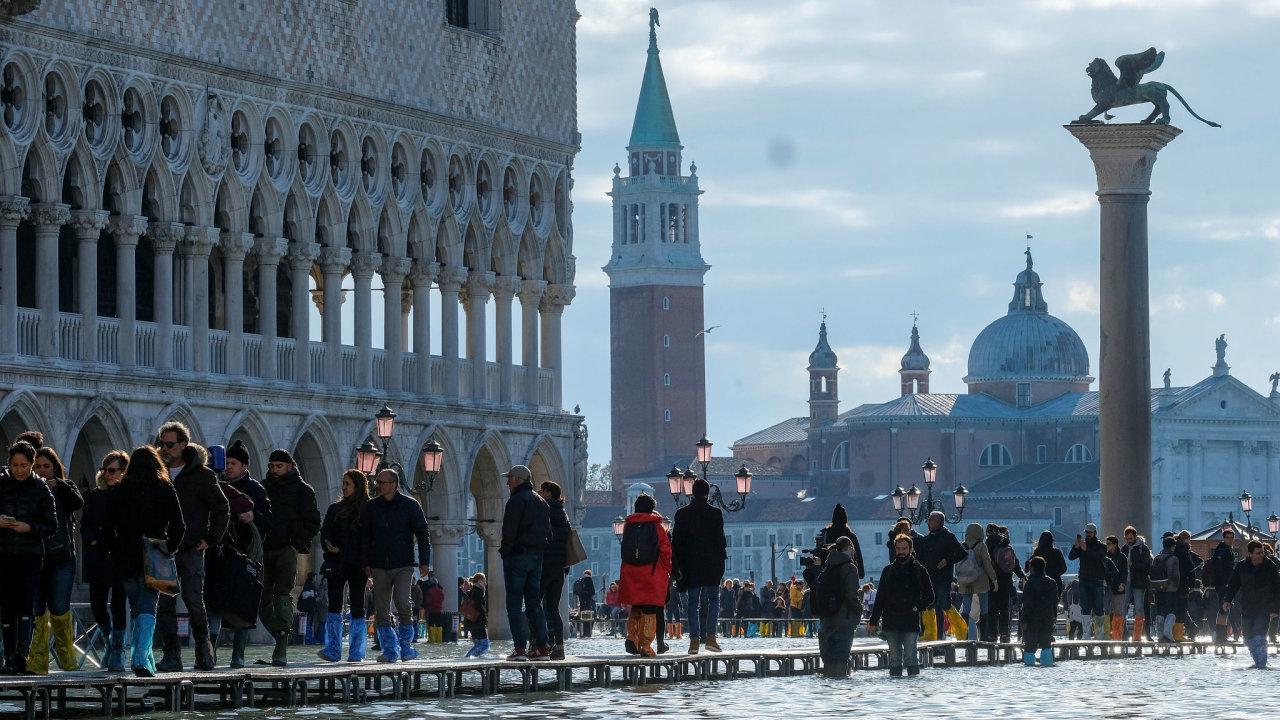 Benátky, povodně