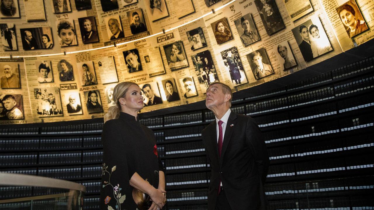 Premiér Andrej Babiš navštívil v Izraeli památník obětí holokaustu.