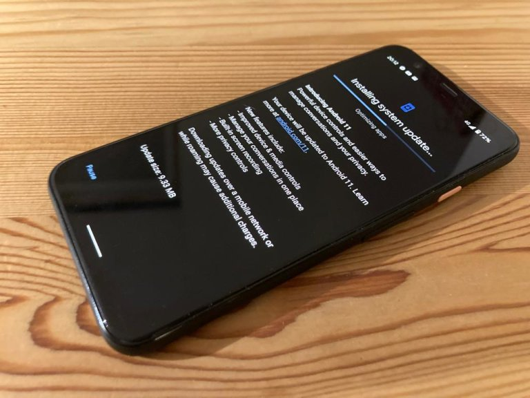 Aktualizace na Android 11 na telefonu Google Pixel 4