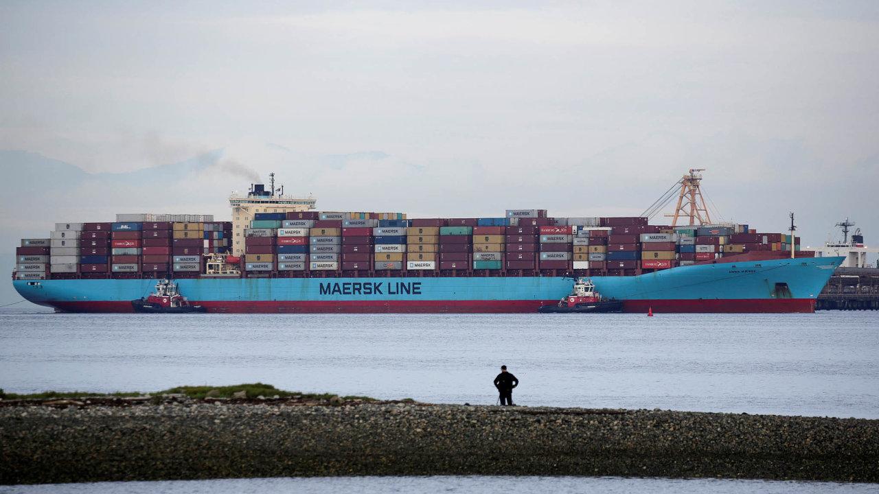 Maersk je největším kontejnerovým dopravcem pomoři.