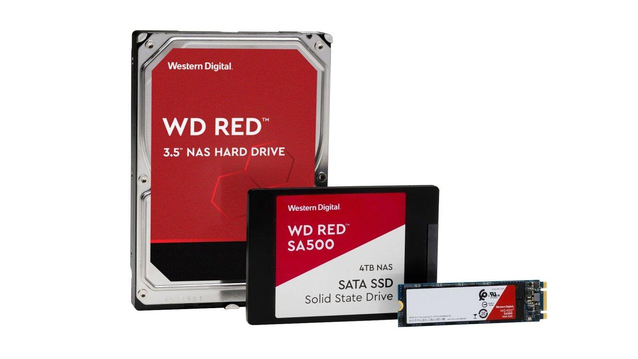 Řada disků WD Red  slibuje dlouhou životnost, nejzajímavější jsou ale ceny SSD obecně. 1TB SSD už s cenou spadlo na 3000 korun