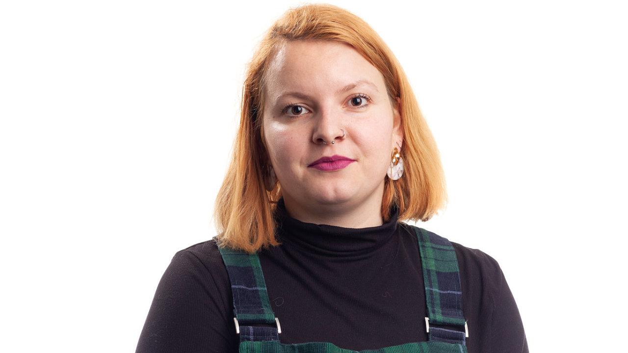 Zaměstnanci Economia. Na snímku Adéla Jelínková. Praha