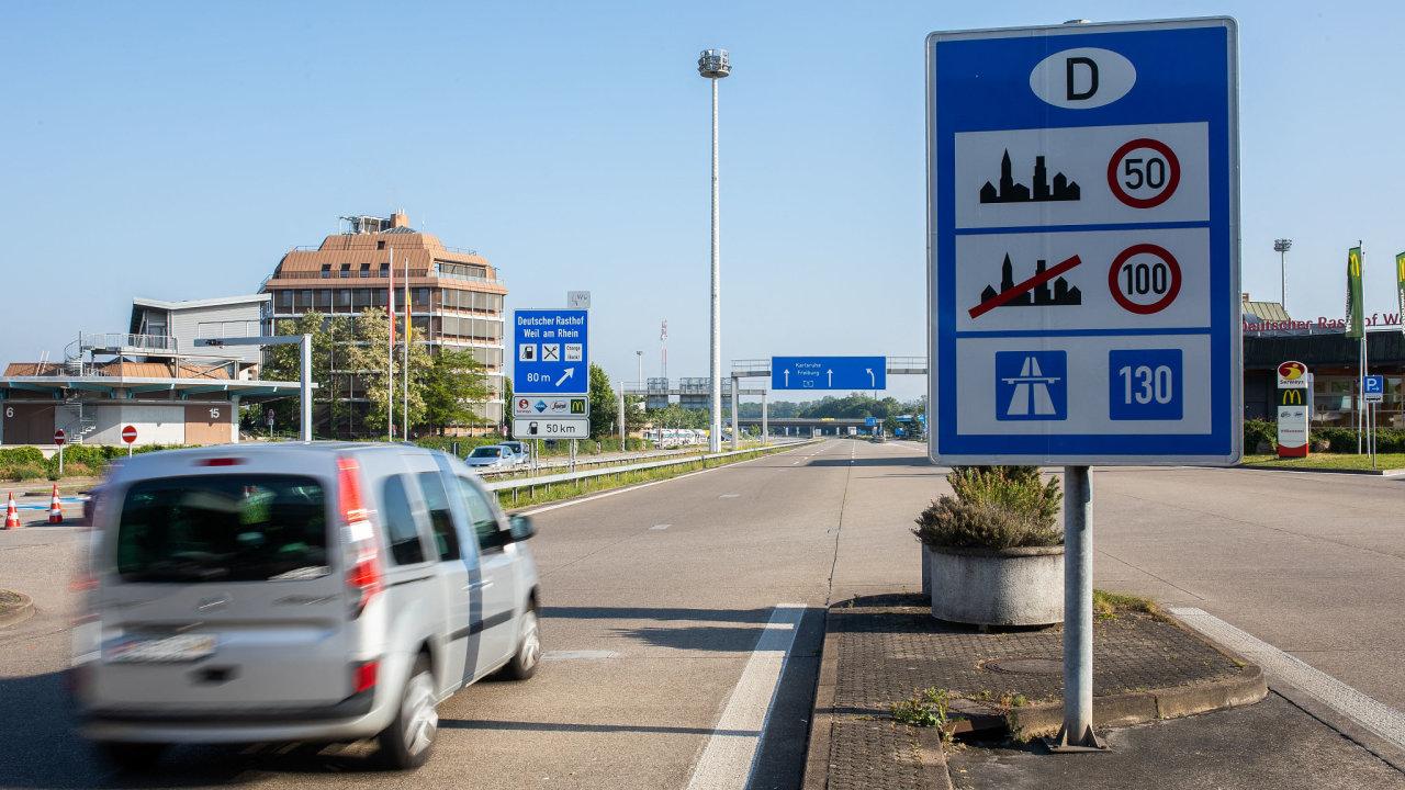 Německo, dálnice, rychlost, 130