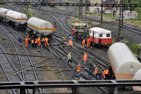 V Olomouci-Hodolanech vykolejil nákladní vlak