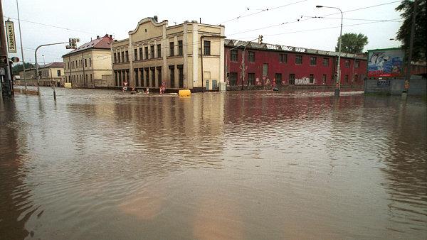 Povodeň v Praze, snímek z roku 2002