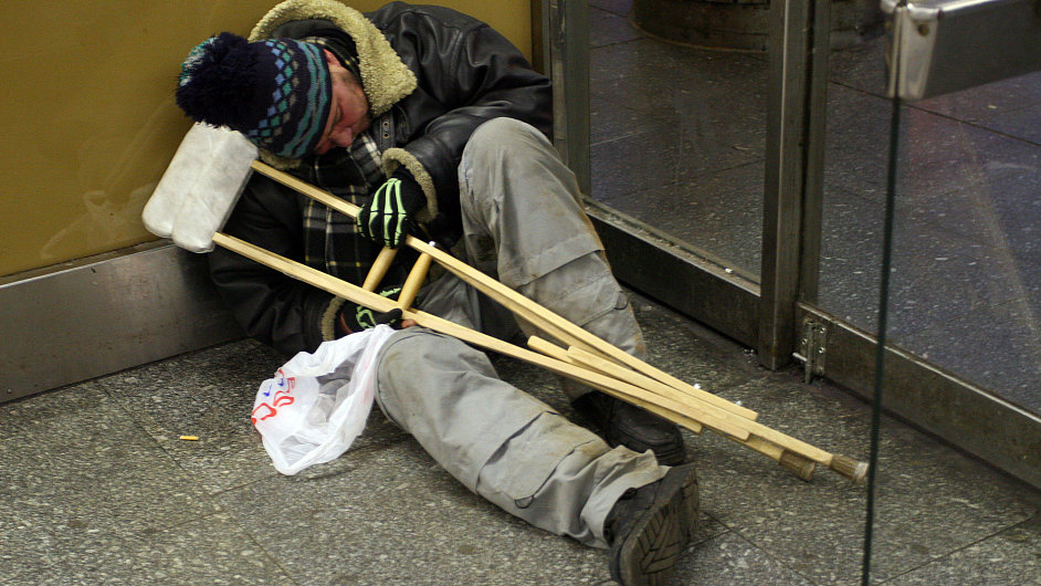 Bezdomovec, ilustrační foto