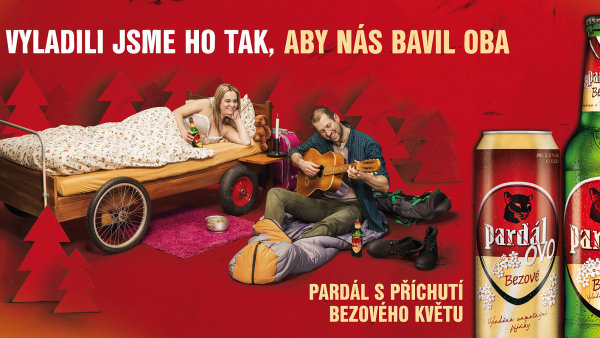 Na billboardech propaguj�c�ch novinku Bud�jovick�ho Budvaru se objev� Sandra Siebenstichov� a Roman �paniller.