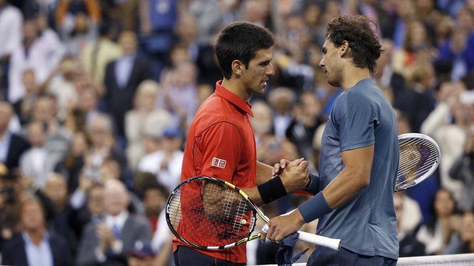 Djokovič s Nadalem na nedávném US Open
