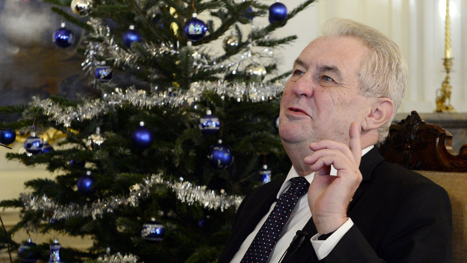 Prezident Miloš Zeman při vánočním poselství