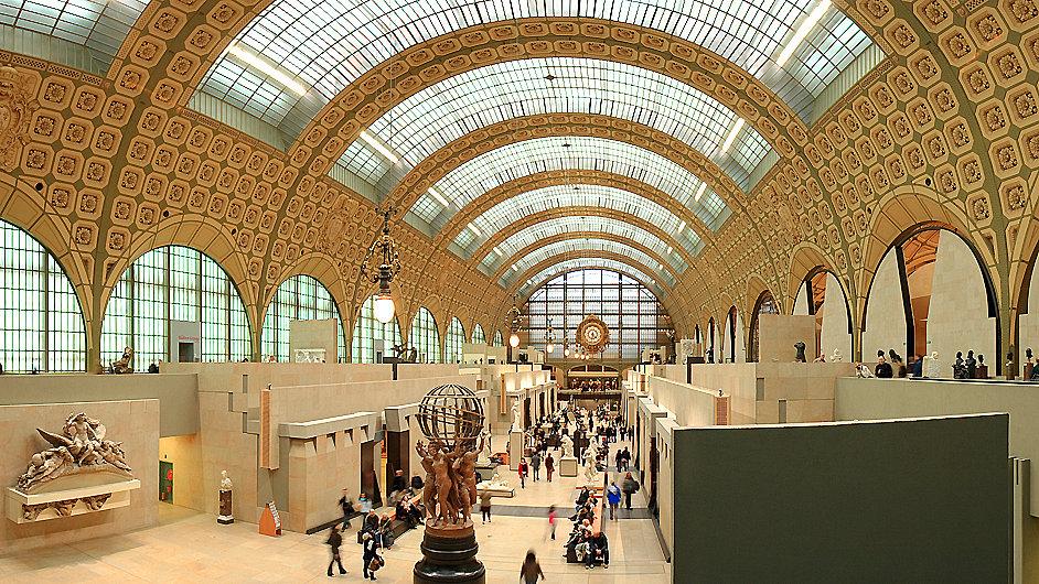 V pařížském Musée d'Orsay jsou uložena díla impresionistů