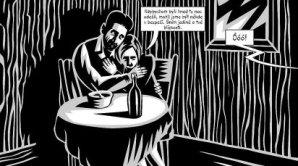 Uk�zka z komiksov� adaptace Z�mku, kterou vytvo�il Jarom�r 99 s americk�m autorem Davidem Mairowitzem.