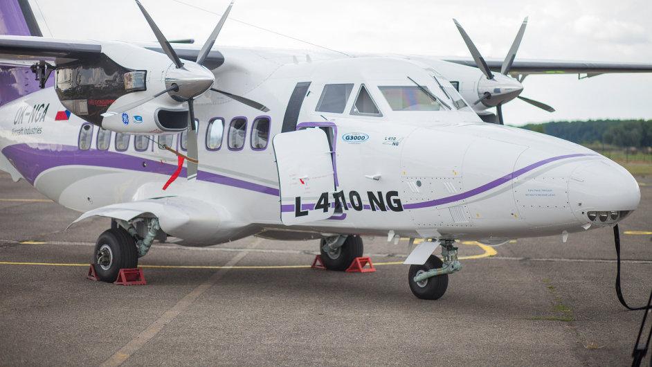Společnosti Aircraft Industries představila na letišti v Kunovicích nový letoun L-410 NG.