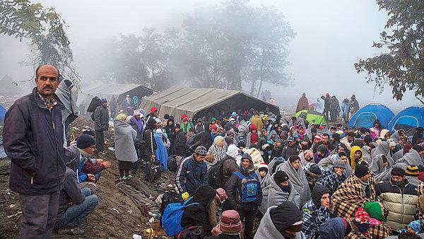 Uprchl�ci v N�mecku - Ilustra�n� foto