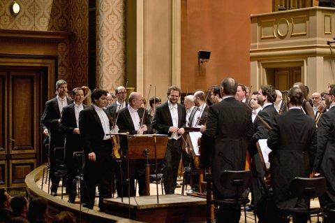 Snímek z pondělního koncertu Symfonického orchestru Českého rozhlasu v pražském Rudolfinu.
