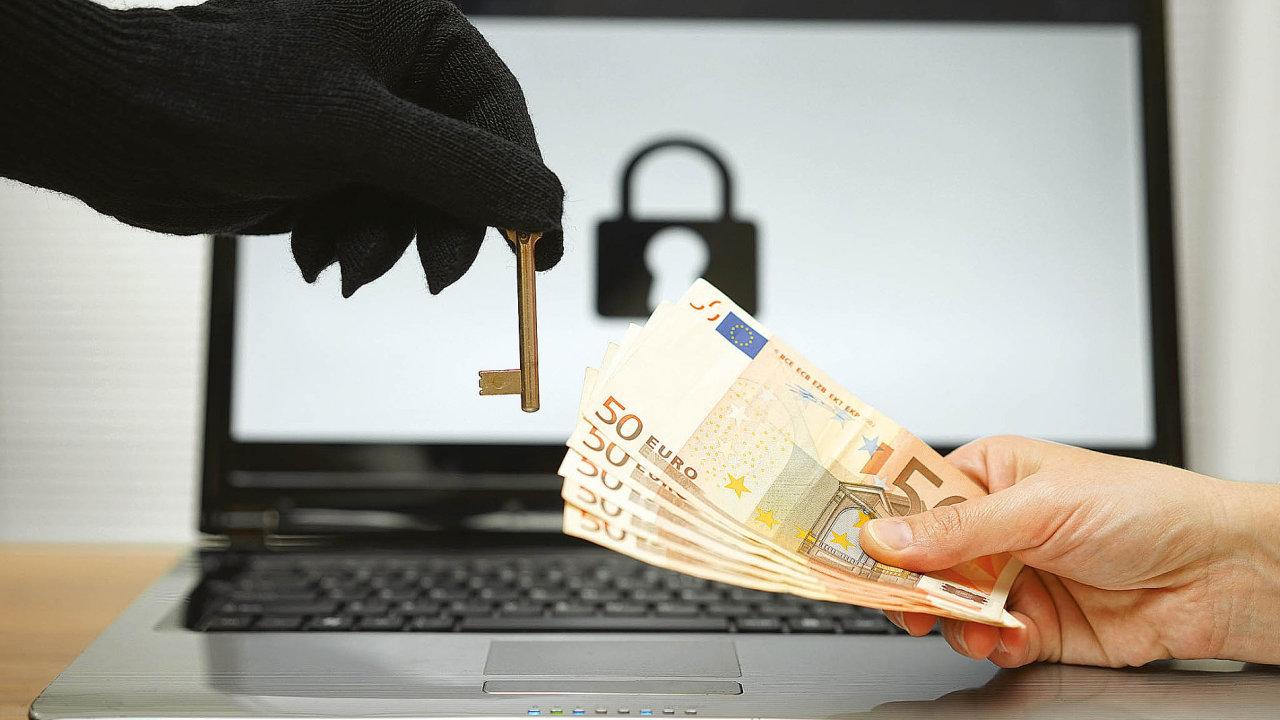 Ransomware, škodlivý software vydírající uživatele. Ilustrační foto