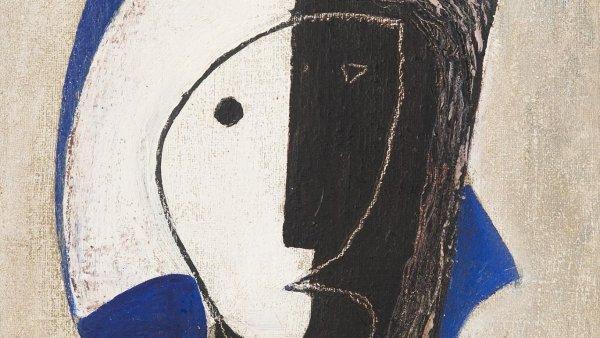 Hlava s kloboukem je ukázkou kubistické tvorby Františka Muziky.