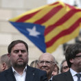 Viceprezident katalánského regionu Oriol Junqueras Carles Puigdemont