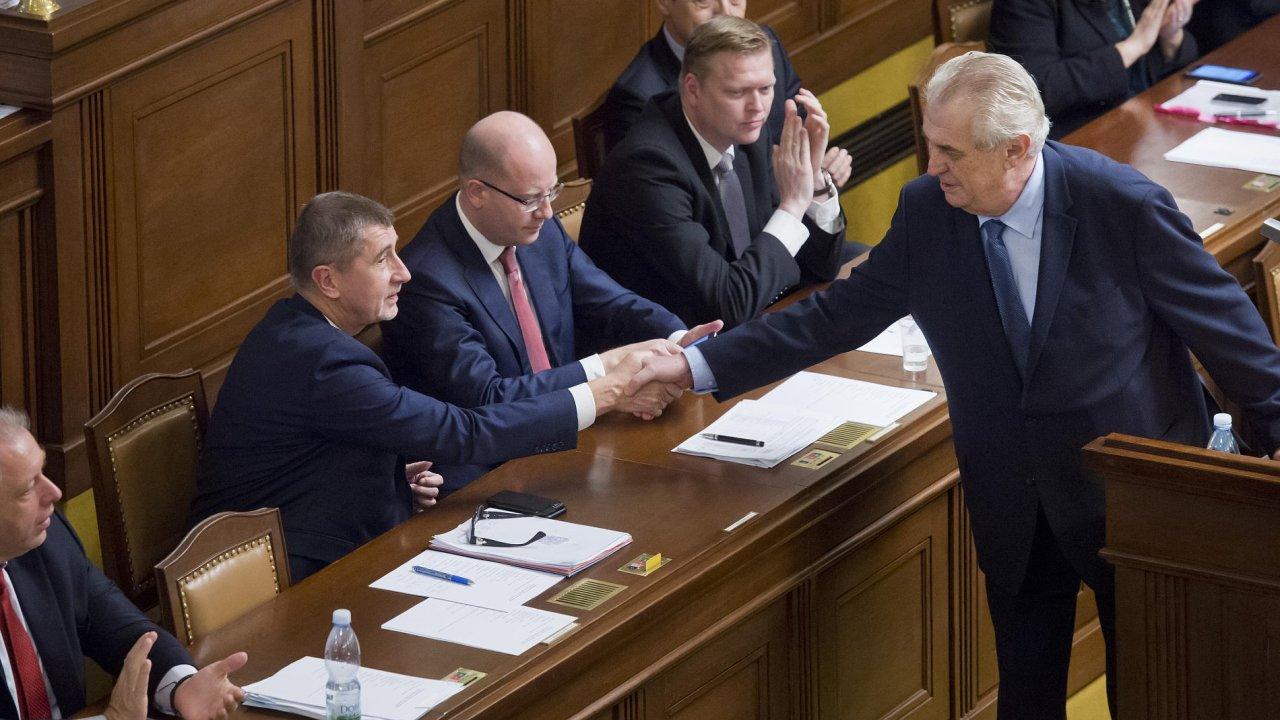 Prezident Miloš Zeman vystoupil 7. prosince v Poslanecké sněmovně v Praze návrh státního rozpočtu pro příští rokvýdajové rámce a návrhy rozpočtů státních fondů.