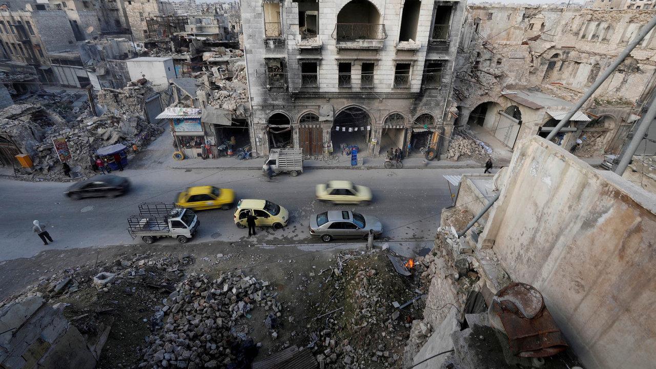 Na rekonstrukci zničeného města Aleppo se chtějí podílet i české podniky.