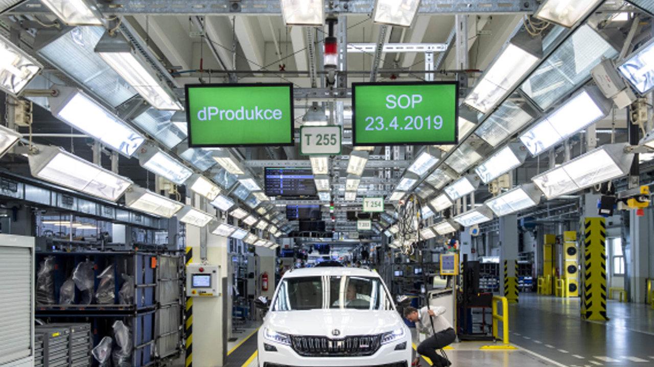 Hlavním tahounem tuzemské ekonomiky inadále zůstává výroba automobilů, ato ipřes výrazné zpomalení vposledních měsících.