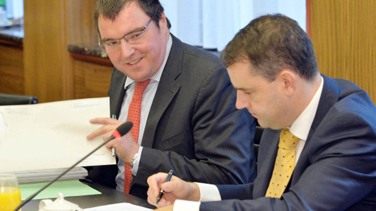Miroslav Singer (vlevo) a Mojmír Hampl