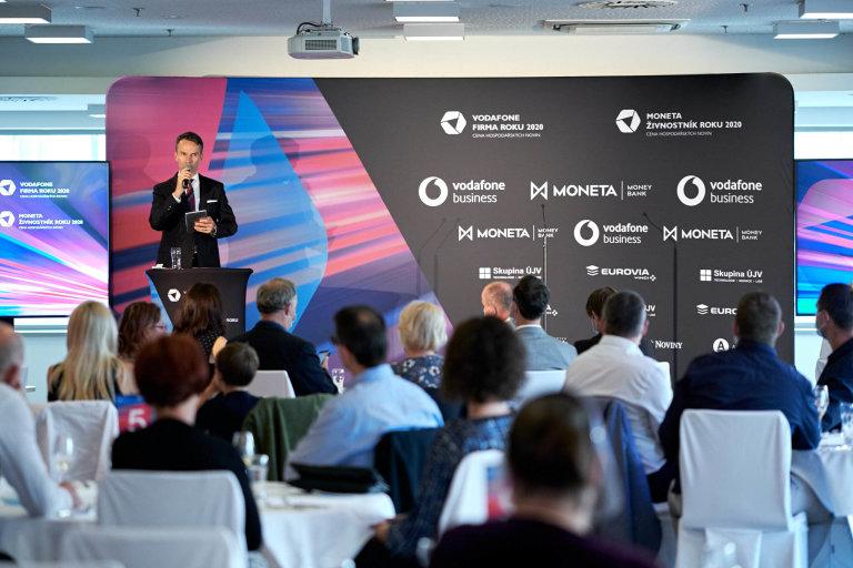 Vyhlašování Vodafone Firma roku 2020 aMONETA Živnostník roku 2020, Jihočeskýkraj