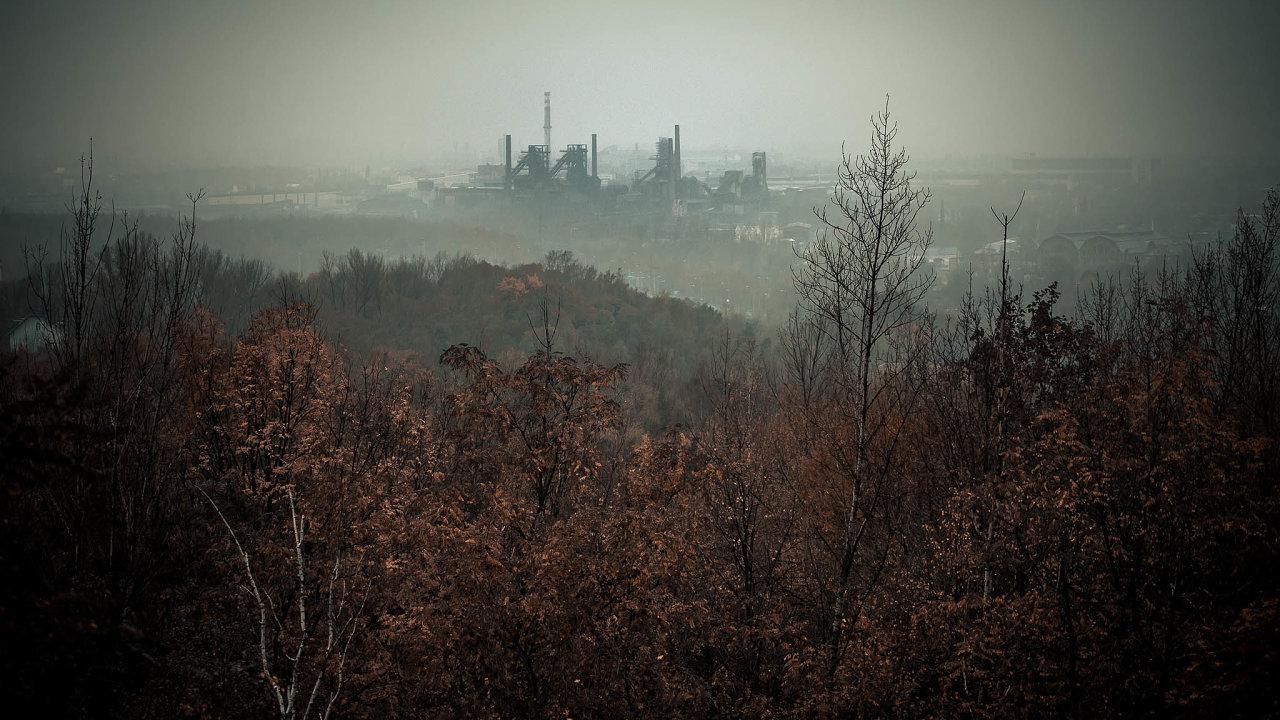 Znečištěné ovzduší v Ostravě.