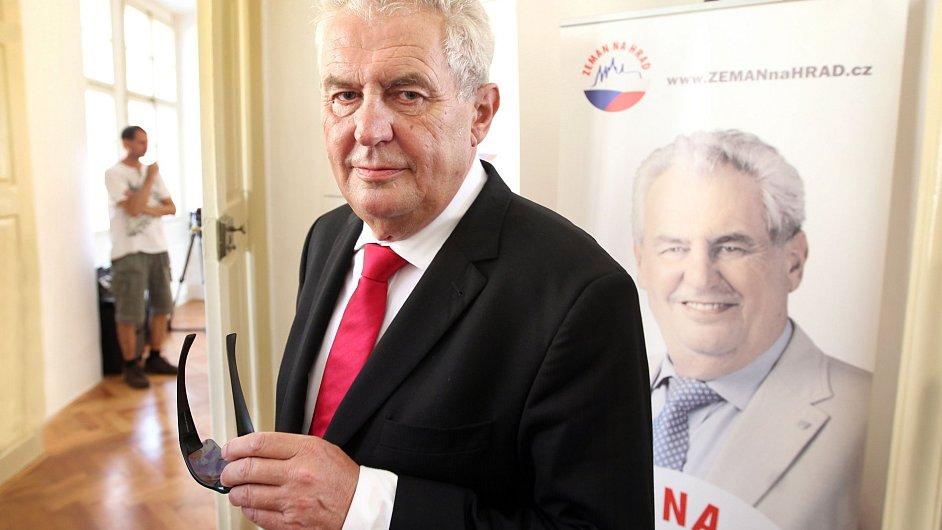 Miloš Zeman, kandidát na českého prezidenta