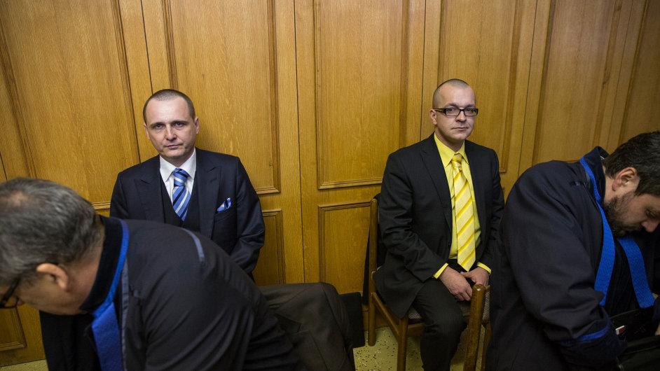 Vít Bárta a Jaroslav Škárka u soudu