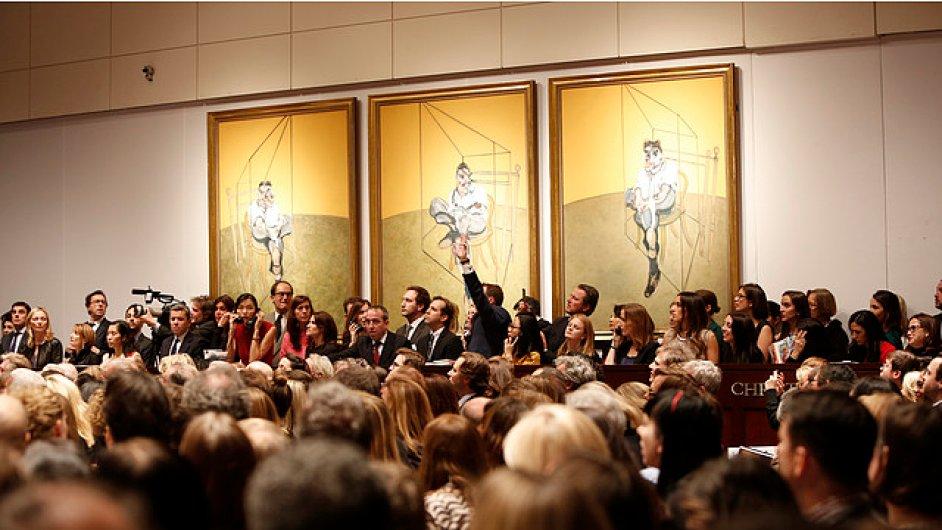 Triptych Francise Bacona dražila aukční síň Christie's v New Yorku.