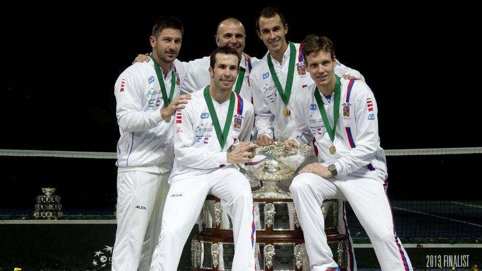 Čeští tenisté slaví titul z Davis Cupu