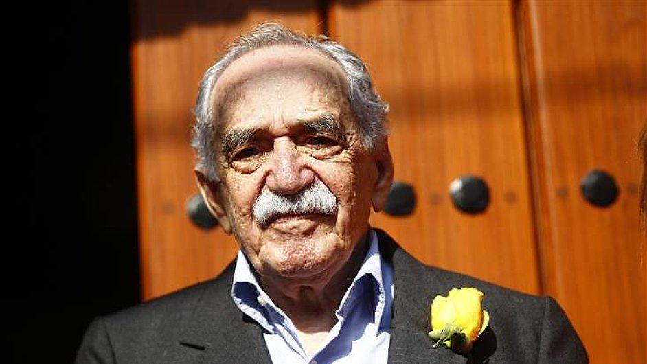 Márquez minulý měsíc zdravil novináře na své sedmaosmdesáté narozeniny.