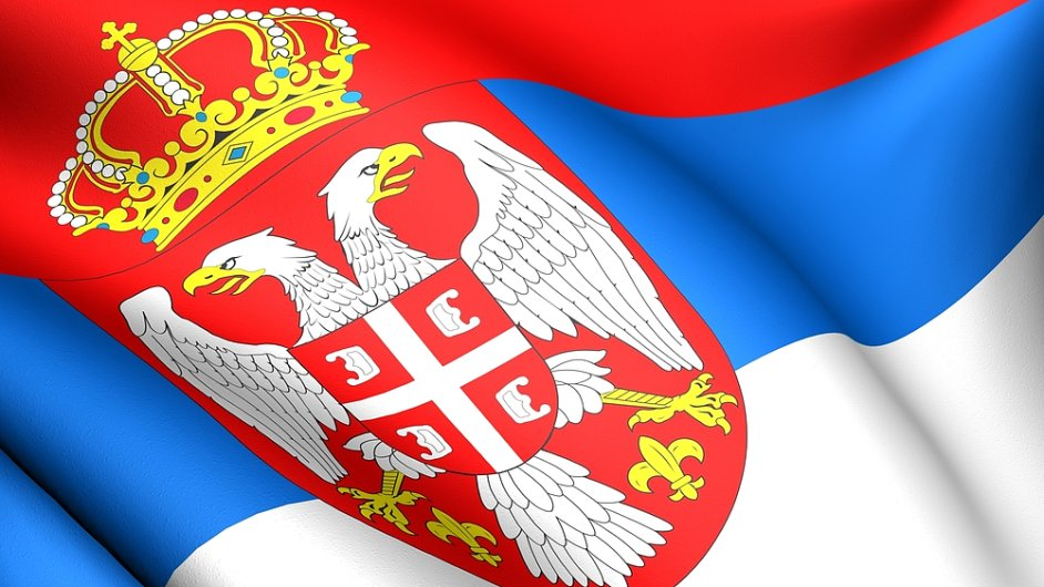 Srbská vlajka.