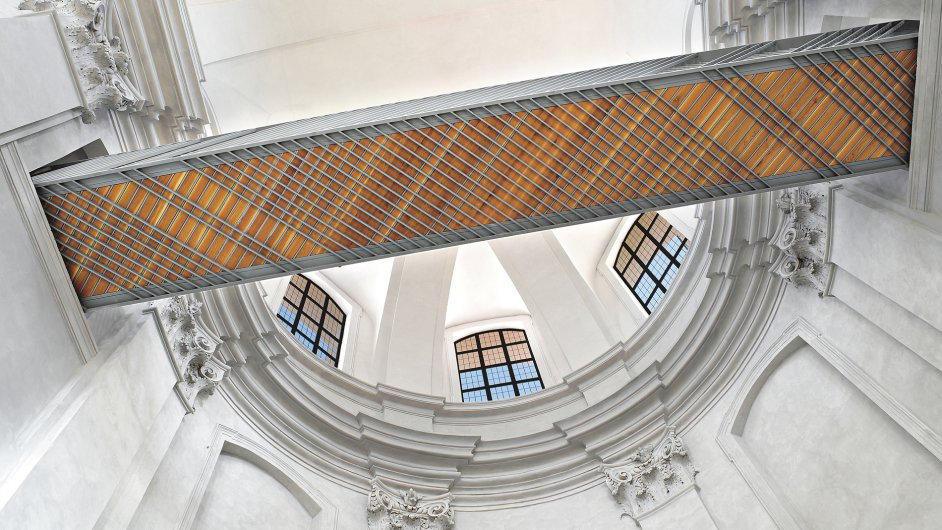 Rekonstrukce piaristického chrámu Nalezení sv. Kříže v Litomyšli.