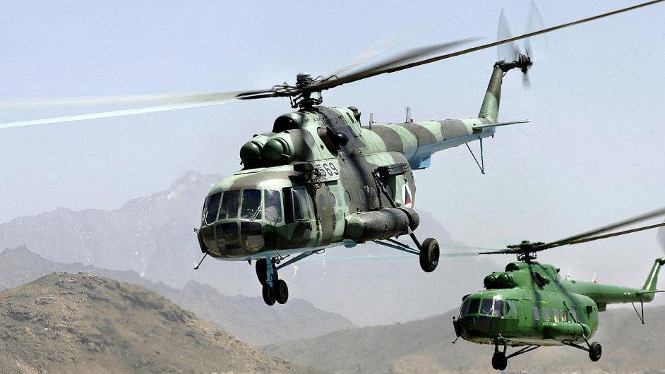 Helikoptéry MI-17 - Ilustrační foto.