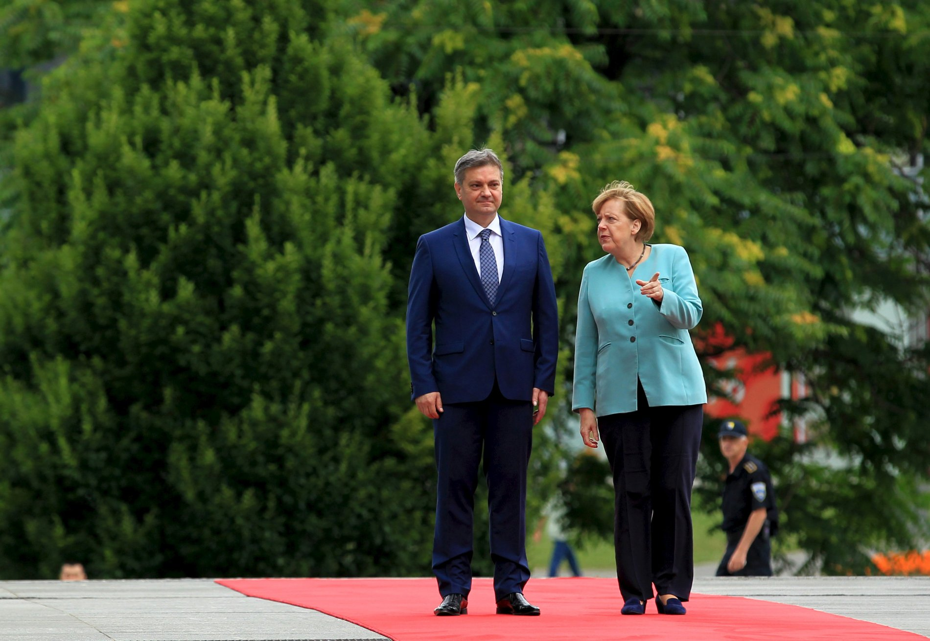 Angela Merkelová na návštěvě v Bosně.