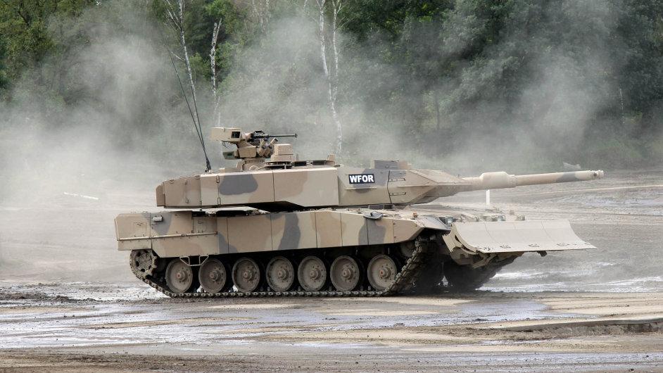 Německý tank Leopard 2A7 firmy Krauss-Maffei Wegmann.