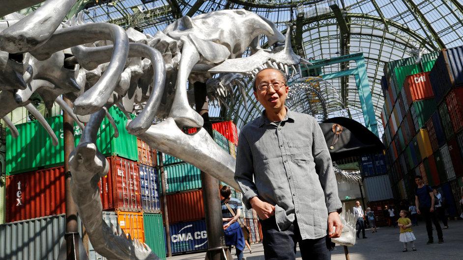 Snímek z výstavy čínského umělce Chuanga Junga Pchinga v pařížském Grand Palais.