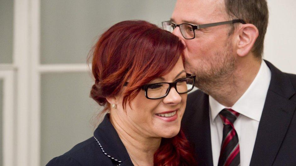 Jana Nagyová (nyní Nečasová) a její manžel a bývalý premiér Petr Nečas.