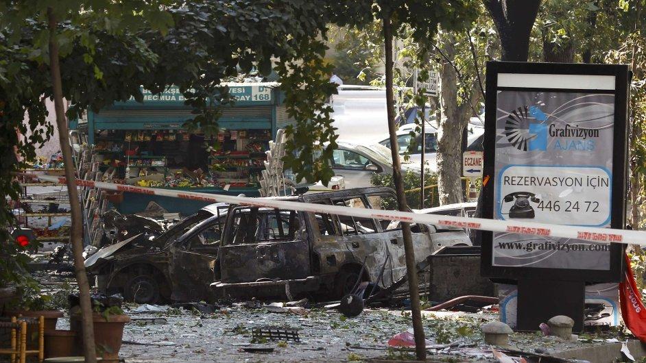 Výbuch v turecké Ankaře