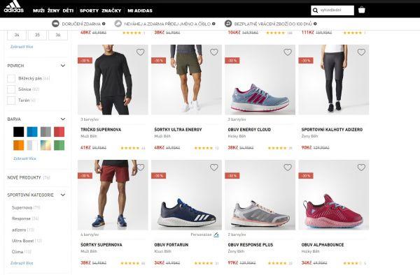 Adidas udělal chybu na e-shopu, místo v eurech prodával v korunách