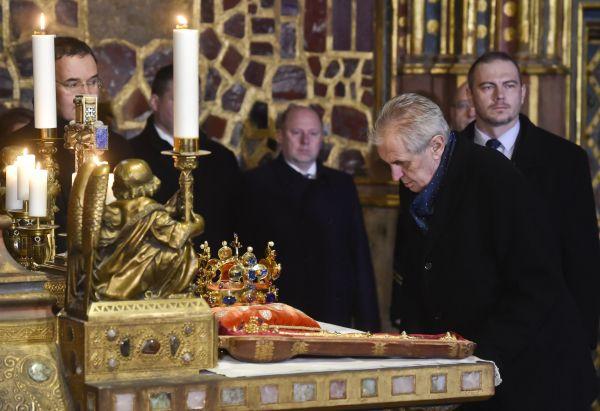 Korunovační klenoty, Miloš Zeman