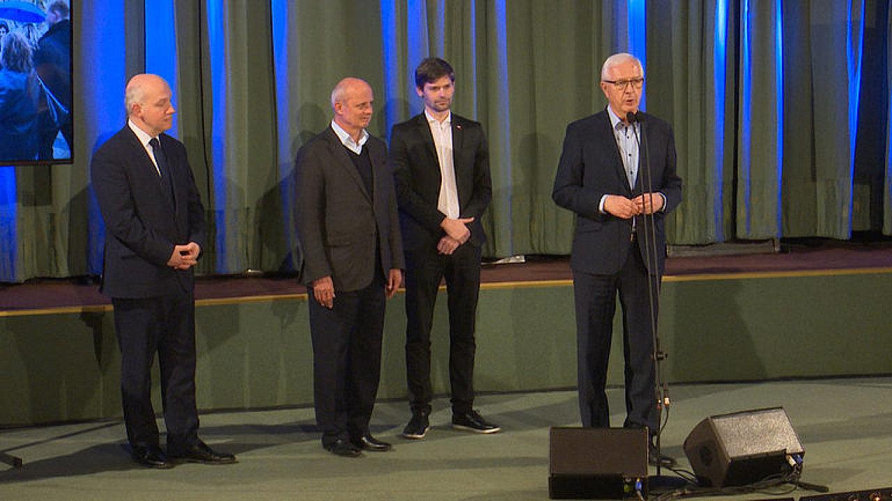 Jiří Drahoš poděkoval ostatním kandidátům za podporu