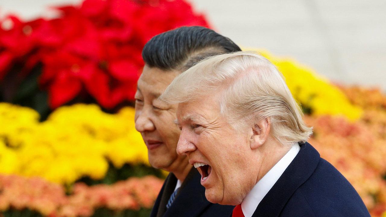 Donald Trump a Si Ťin-pching.