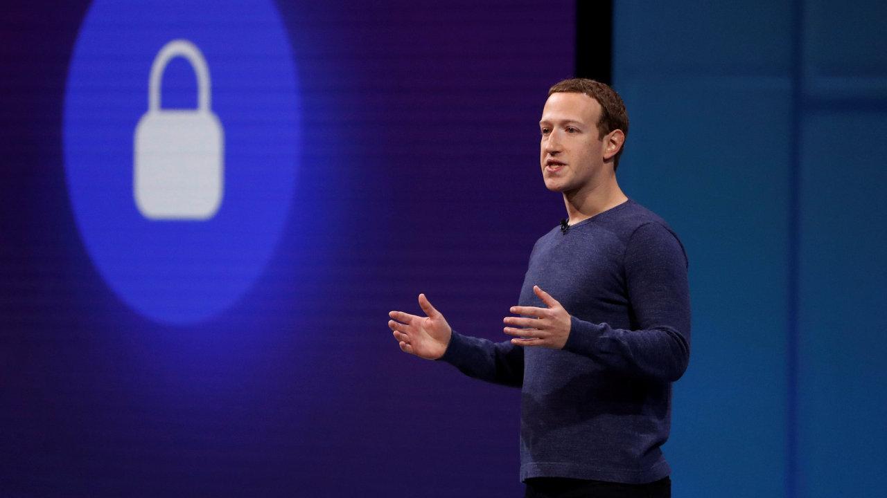 Šéf společnosti Facebook Mark Zuckerberg.