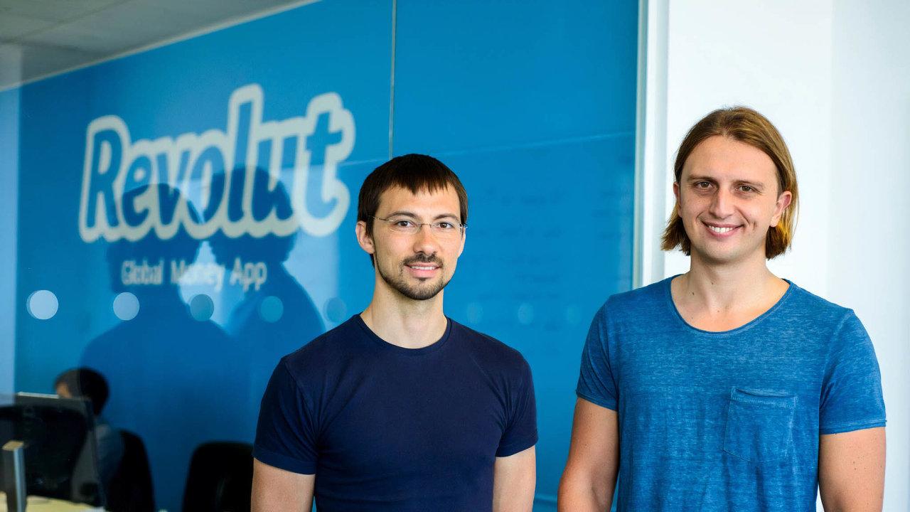 Zakladatelé. Digitální banka Revolut je projektem dvojice Vlad Yatsenko (vlevo) aNikolay Storonsky.