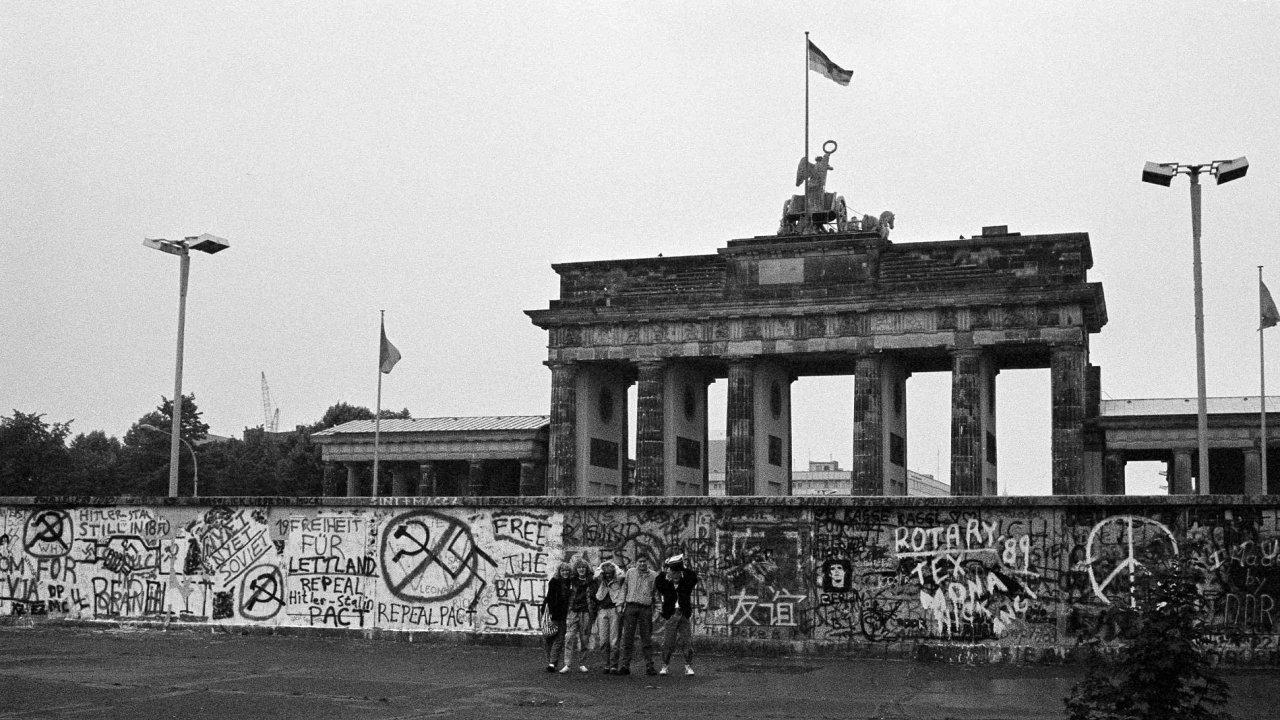 Berlínská zeď v srpnu 1989